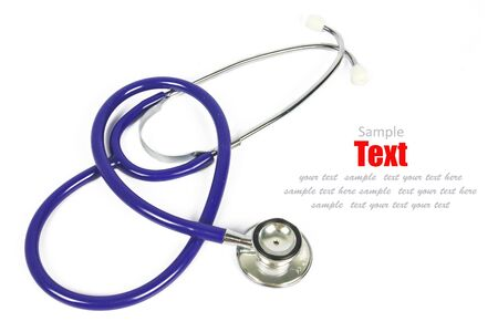 Doctor's stethoscope on a white background with space for text Stock Photo - 8622596