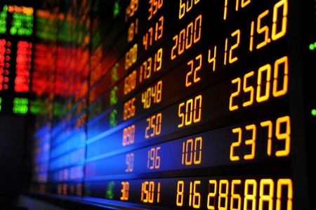 Display of Stock market quotes photo