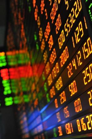stock  exchange: Visualizaci�n de cotizaciones del mercado de valores