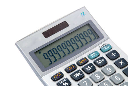 Business calculator isolated on white background  photo
