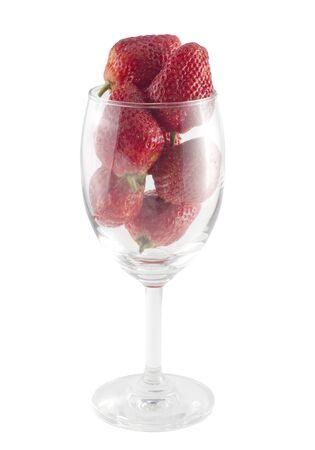 strawberry on white background photo