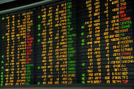 Display of Stock market quotes  Stock Photo