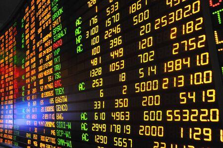 Display of Stock market quotes  Stock Photo