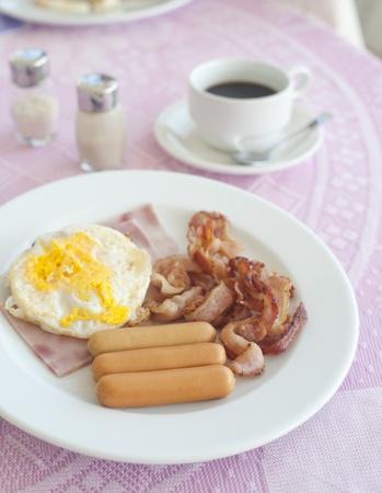 breakfast on table photo