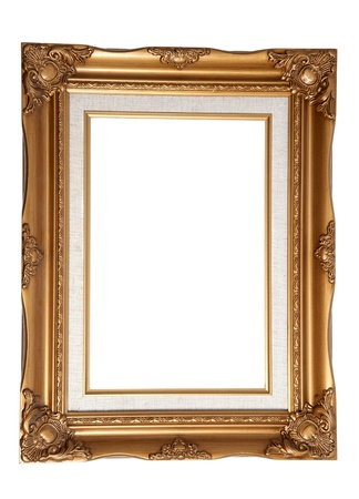 Antique wooden frame photo