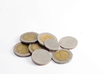 coin money background / money stack / thai bath Stock Photo - 8697054