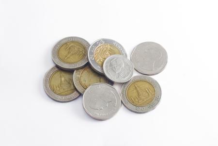 coin money background / money stack / thai bath  Stock Photo - 8697064