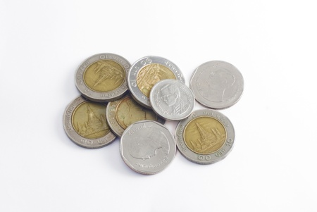 tresure: coin money background  money stack  thai bath