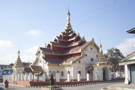 Beautiful temple, Chiang Tung, Myanmar photo