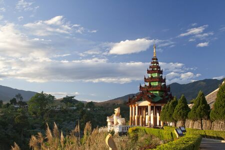 Beautiful temple, Chiang Tung, Myanmar photo