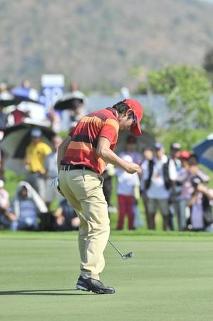 noh: HUA HIN, THAILAND - JANUARY 9 : Noh Seung  yul action Golf Club, Hua Hin, Thailand on January 7-9, 2011.