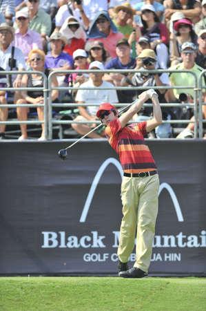 noh: HUA HIN, THAILAND - JANUARY 9 : Noh Seung  yul action in The Royal Trophy Tournament at, Black, Mountain Golf Club, Hua Hin, Thailand on January 7-9, 2011