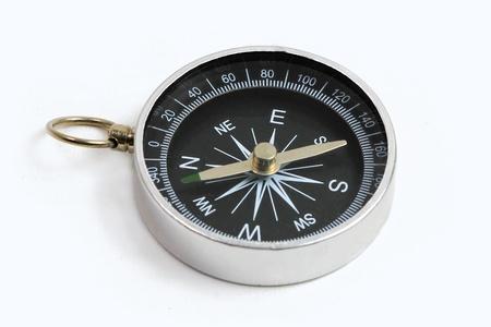 Kompass Nahaufnahme isolated on white Background mit textfreiraum  Standard-Bild - 8765288