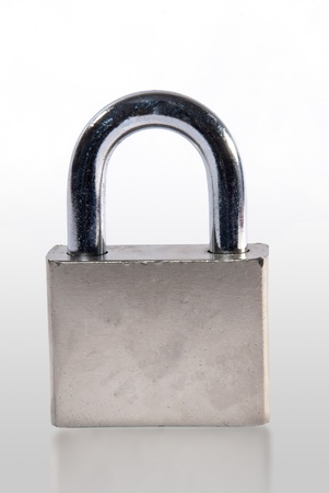Lock isolated on white  photo