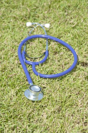 Doctor's stethoscope on grass Stock Photo - 8766946