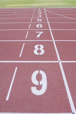 Numbered Running Tracks  photo