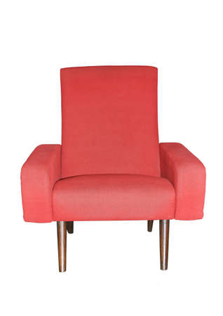 Image of a red chair on white Stock Photo - 8770511