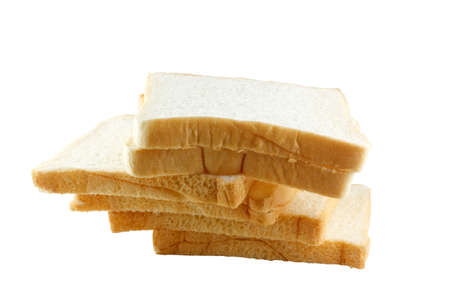 reflaction: The cut loaf of bread with reflaction isolated on white