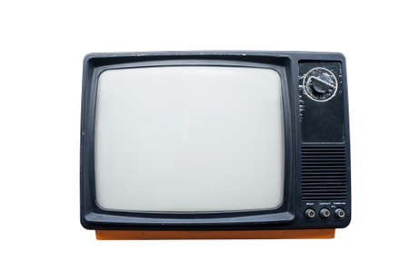 Old vintage TV isolated on white background  Stock Photo - 8770507
