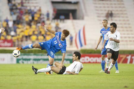 BANGKOK THAILAND- FEB 23 : FIFA Olympic Football between Thailand  vs  Palestine on February 23, 2010 in Supachalasai National Stadium Bangkok Thailand