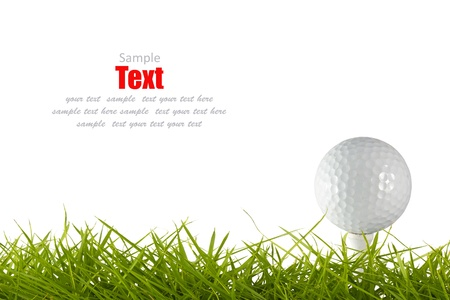Golf ball on green tee  Stock Photo - 9077104