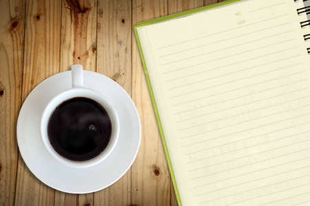 coffee and notebook photo
