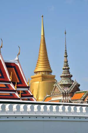 wat: Thailand : Gold palace in Bangkok  Stock Photo