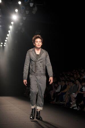 THAILAND -MAR 26 : A model is walking the runway at 27Nov collection presentation for Fashion Networking during Bangkok International Fashion Week 2011 on March 26, 2011 in Bangkok,Thailand  Stock Photo - 9144245