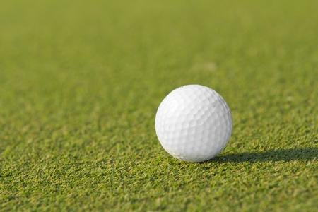 Golf ball on green tee  photo