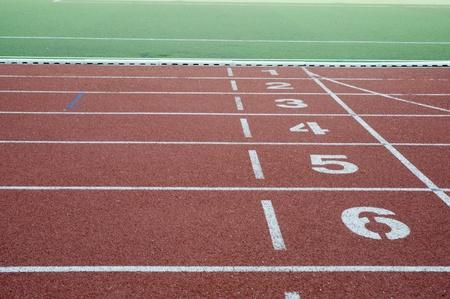 運動選手のためのランニング トラック 写真素材