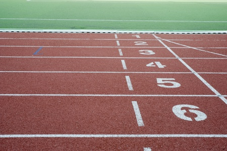 race track: Running track for athletes  Stock Photo