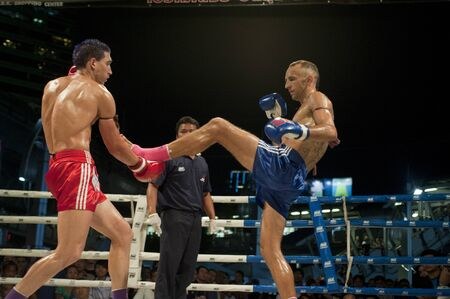 BANGKOK THAILAND- MAY 18: Unidentified players in MBK Fight Night on May18, 2011 at MBK Avenue Ring,Bangkok Thailand