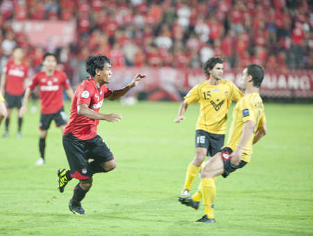 NONTHABURI THAILAND - MAY 25 :the AFC CUP between Muang Thong UTD vs  Al Ahed Fc on May 25, 2011 at Yamaha Stadium in Nonthaburi, Thailand