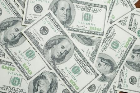 ドル、金背景のヒープ 報道画像