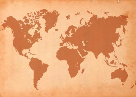 美しい色の効果で世界地図紙のテクスチャ