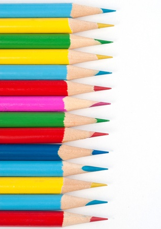 multi coloured: pencils  Stock Photo