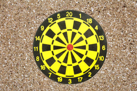 Dartboard isolated on white background  photo