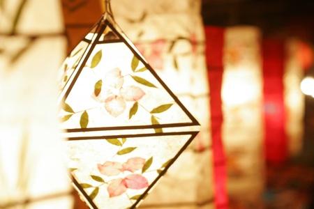 Papierlampe, Laternenfestival Standard-Bild - 9847990