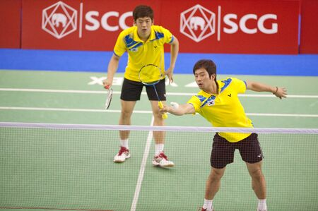Badminton : SCG Thailand Open Grand Prix Gold 2011  Stock Photo - 9889821