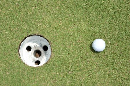 Golf ball on green tee Stock Photo - 9848094