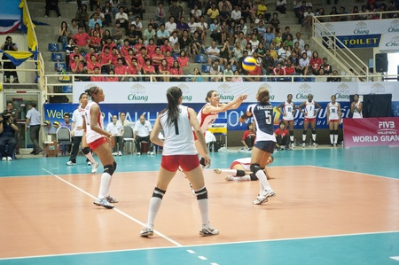 Volleyball World Championships 2011 Thailand vs Peru at Nakhonpathom in Thailand on August 05, 2011