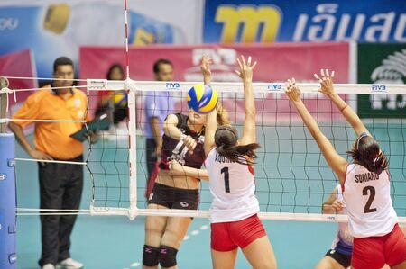NAKHONPATHOM,THAILAND - AUGUST 5 : Volleyball World Championships 2011 at Nakhonpathom in Thailand on August 05, 2011