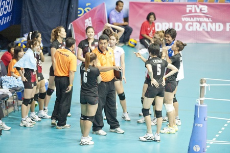 NAKHONPATHOM,THAILAND - AUGUST 5 : Volleyball World Championships 2011 at Nakhonpathom in Thailand on August 05, 2011