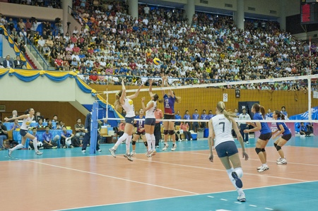 BANGKOK,THAILAND - AUGUST 21 :Volleyball World Championships 2011 Thailand vs Brazil on August 19-21, 2011 in Bangkok,Thailand
