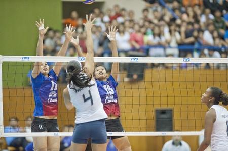 BANGKOK,THAILAND - AUGUST 21 :Volleyball World Championships 2011 Thailand vs Brazil on August 19-21, 2011 in Bangkok,Thailand