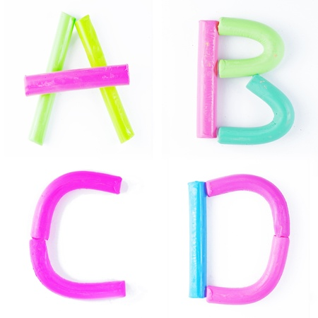 ABCD : Font design form clay.  photo