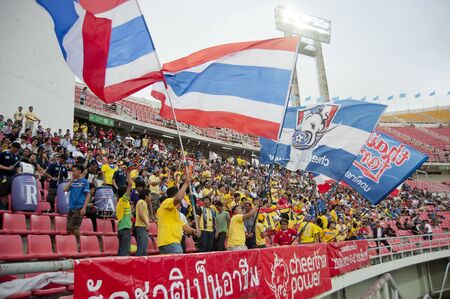 BANGKOK THAILAND - SEPTEMBER 6 : FIFA WORLD CUP 2014 (Round 3), between Thailand vs Oman on September 6, 2011 in Rajamangla Stadium,Bangkok, Thailand.  Stock Photo - 10581142