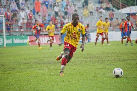BANGKOK, THAILAND - SEPTEMBER 11 : Thai Premier League (TPL) between Thai Port FC (O) vs OSotspa FC (Y) on September 11, 2011 at PAT Stadium in Bangkok, Thailand