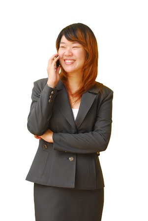 beautiful business woman on the phone Stock Photo - 10678830