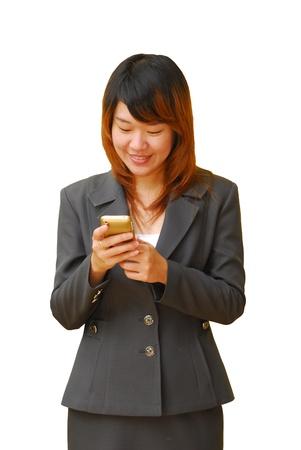 beautiful business woman on the phone Stock Photo - 10678833